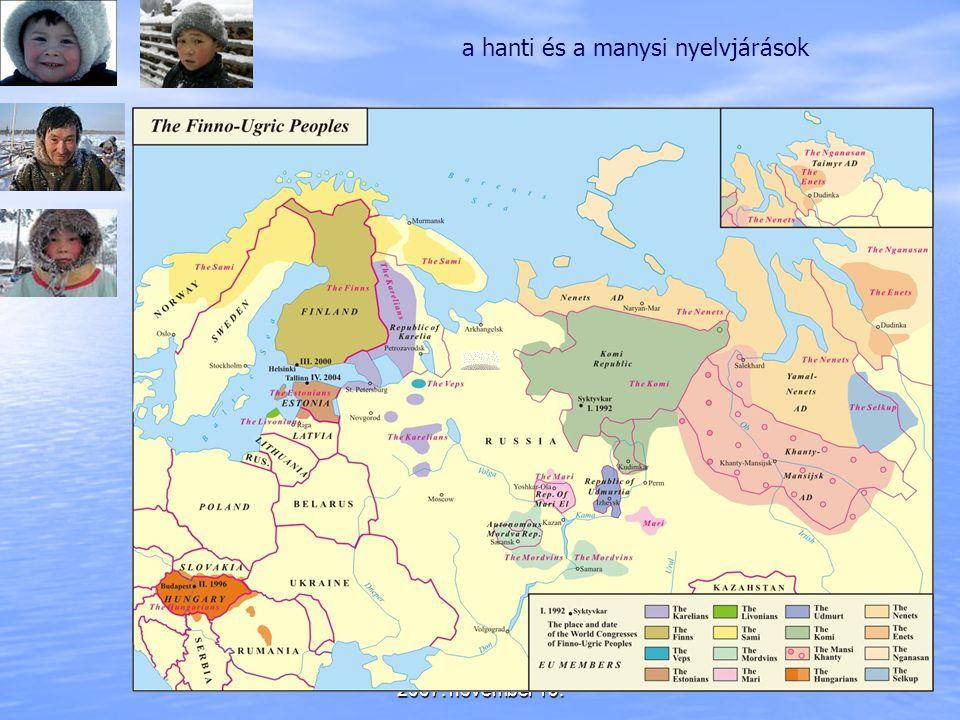 2007. november 19. a hanti és a manysi nyelvjárások