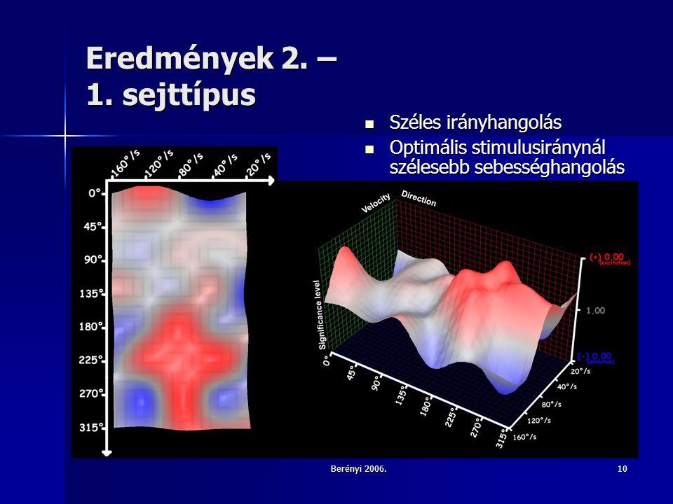 Berényi 2006.10 Eredmények 2. – 1.