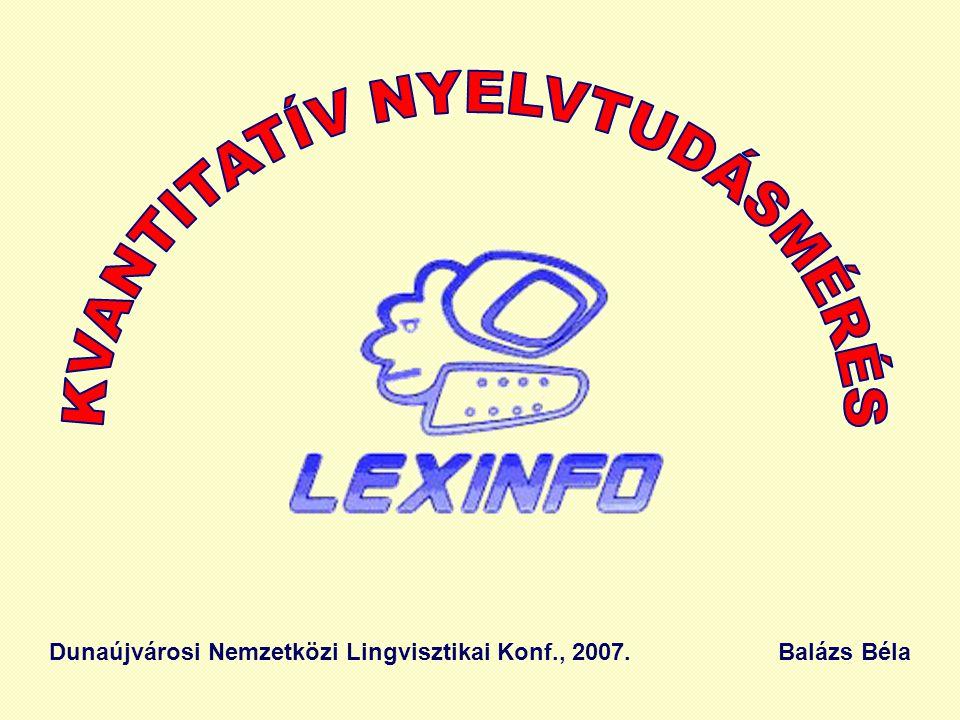 Dunaújvárosi Nemzetközi Lingvisztikai Konf., 2007. Balázs Béla