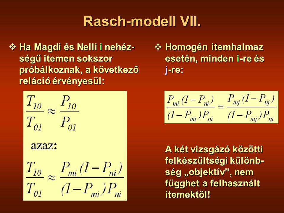 Rasch-modell VII.