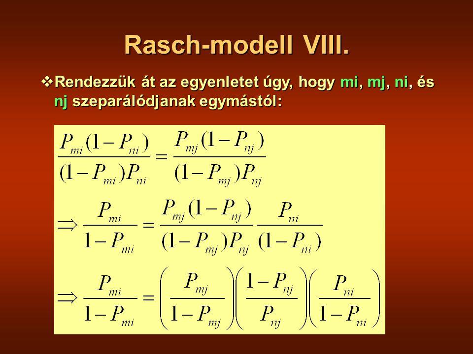 Rasch-modell VIII.