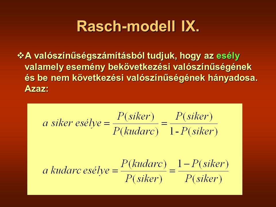 Rasch-modell IX.