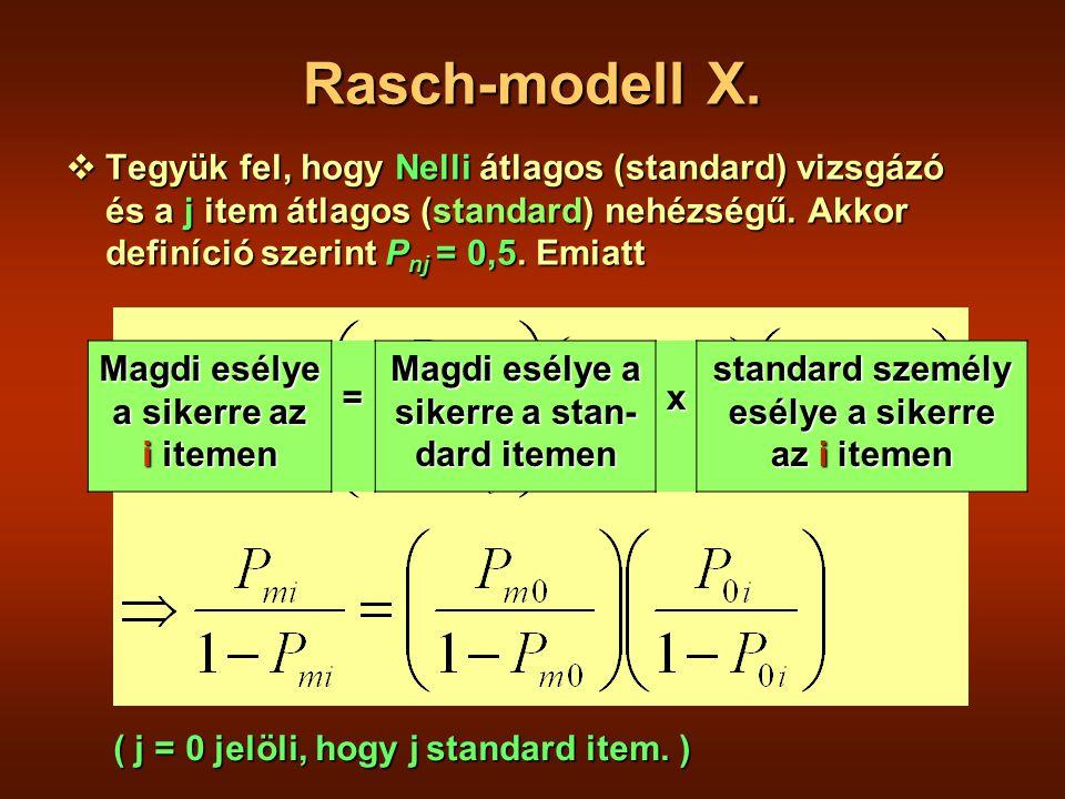 Rasch-modell X.
