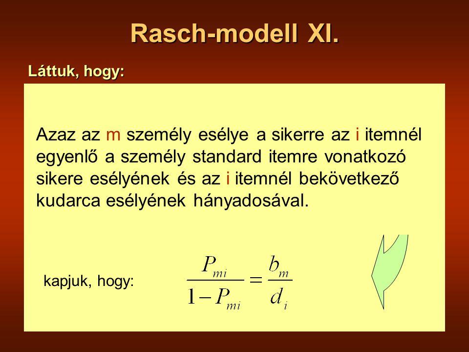 Rasch-modell XI.