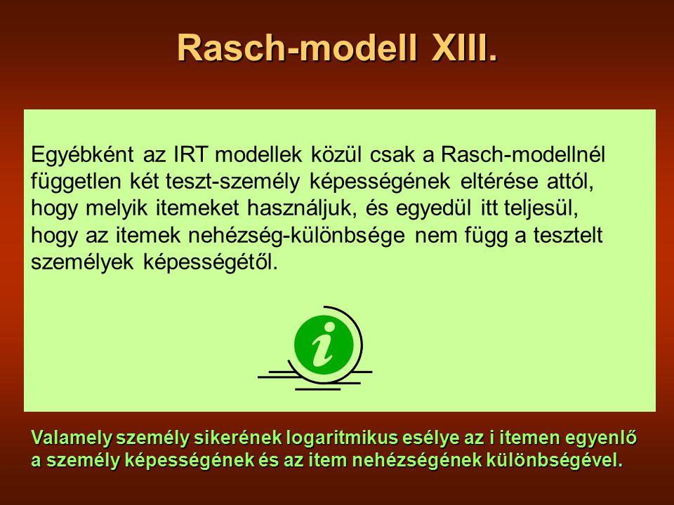Rasch-modell XIII.