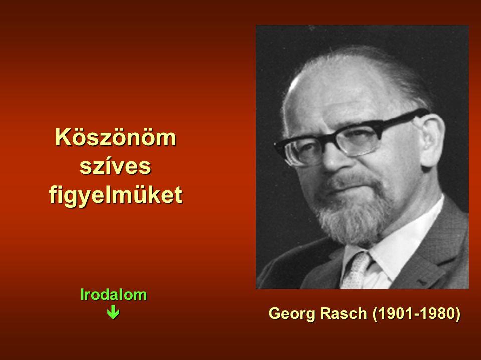 Köszönöm szíves figyelmüket Georg Rasch (1901-1980) Irodalom