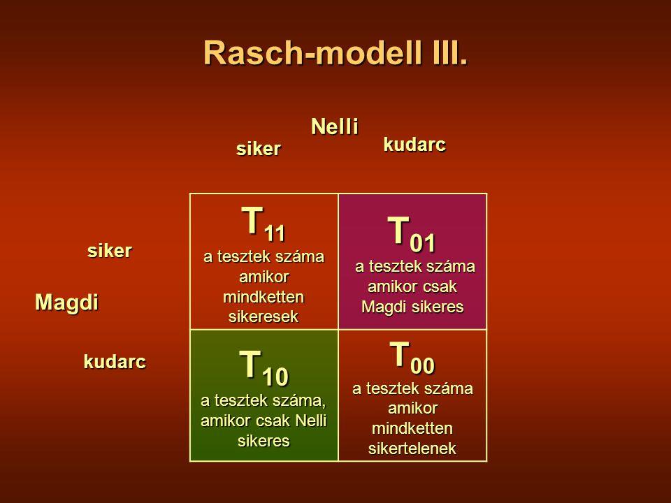 Rasch-modell III.