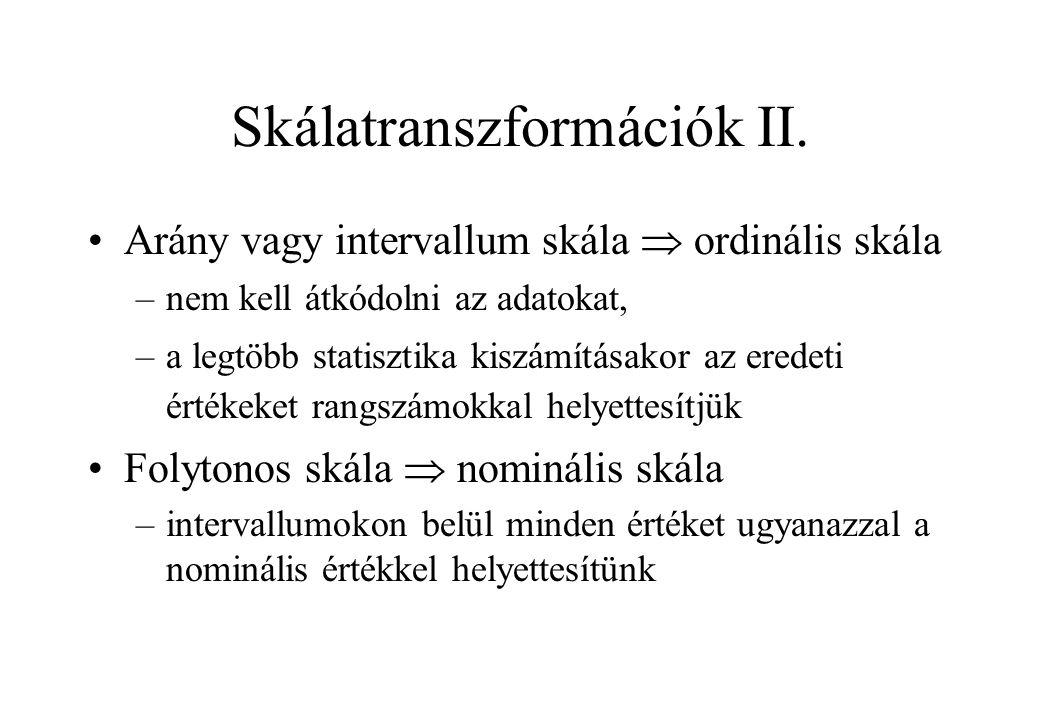 Skálatranszformációk II.