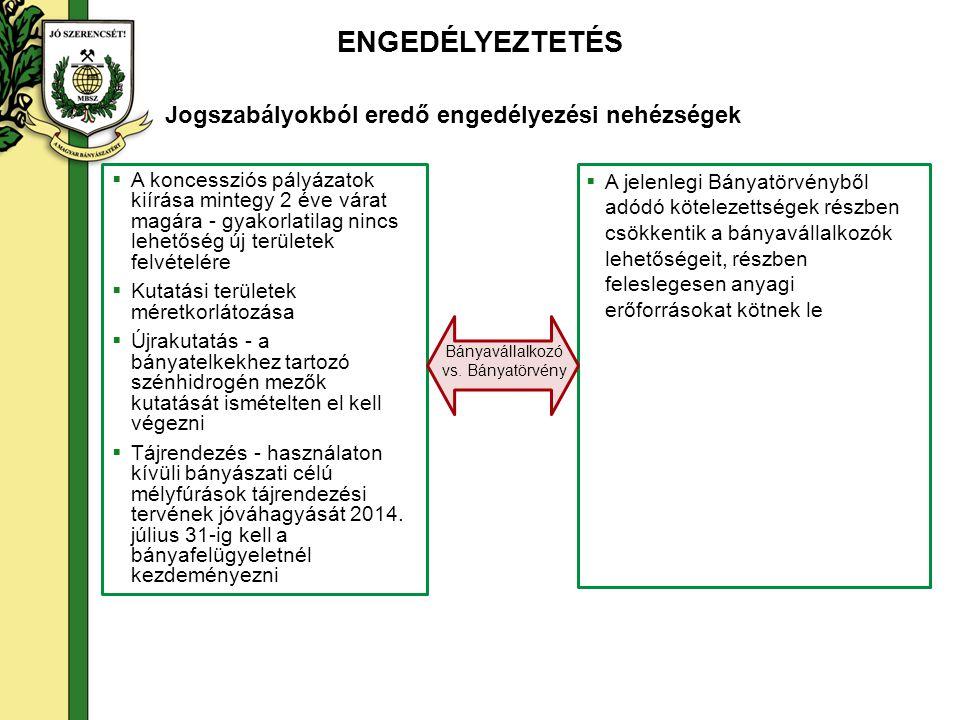 ENGEDÉLYEZTETÉS  Minden esetben szükséges előzetes környezetvédelmi vizsgálat, már a Termelési Műszaki Üzemi Terv fázisában - akkor is, ha a projekt környezeti hatásvizsgálata vagy egységes környezethasználati engedélyezése nyilvánvalóan szükséges  A környezeti hatásvizsgálati és az egységes környezethasználati engedélyezési eljárásról szóló 314/2005.