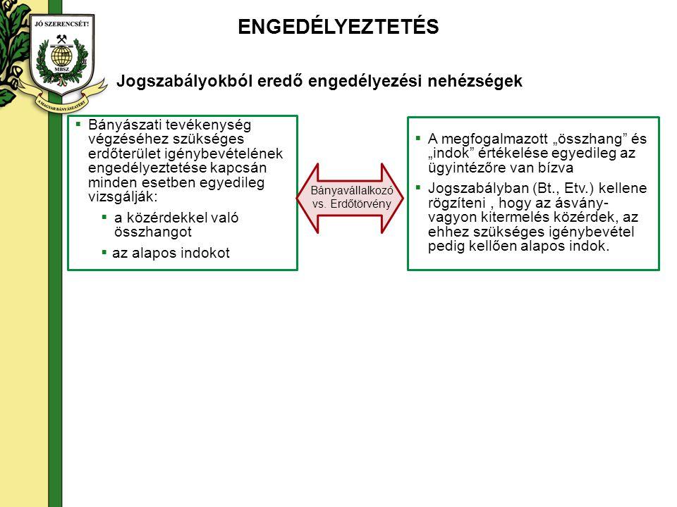 Szakhatóságok szerepe és felesleges ismétlődések A bányászati tevékenységhez kapcsolódó engedélyezési eljárásokban eljáró, közreműködő szakhatóságokat a Magyar Bányászati és Földtani Hivatalról szóló 267/2006.