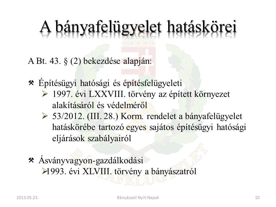 2013.05.23.10Bányászati Nyílt Napok A Bt. 43.