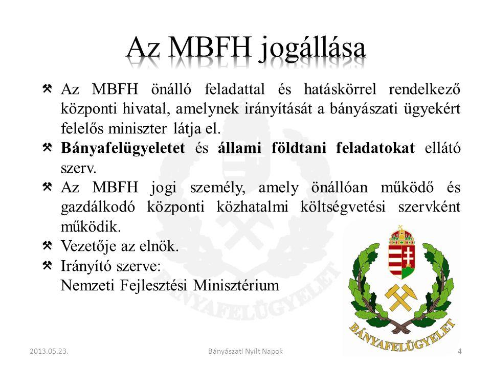 Az MBFH önálló feladattal és hatáskörrel rendelkező központi hivatal, amelynek irányítását a bányászati ügyekért felelős miniszter látja el.