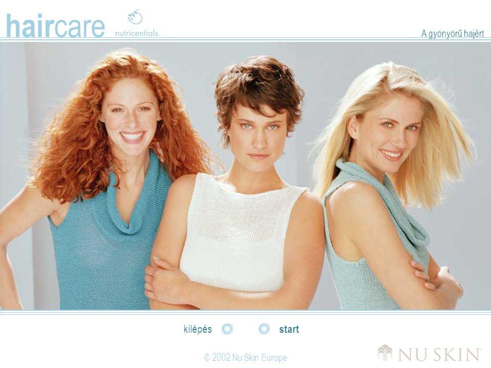 hair care © 2002 Nu Skin Europe start kilépés A gyönyörű hajért