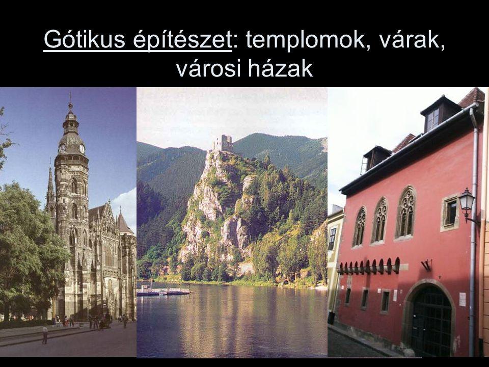 Gótikus építészet: templomok, várak, városi házak
