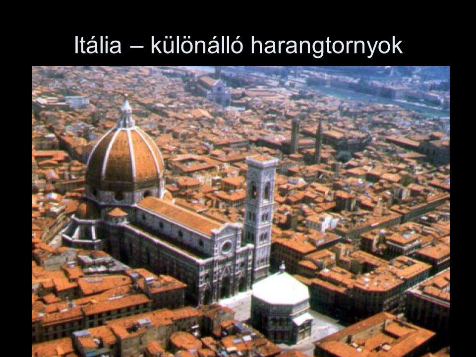 Itália – különálló harangtornyok