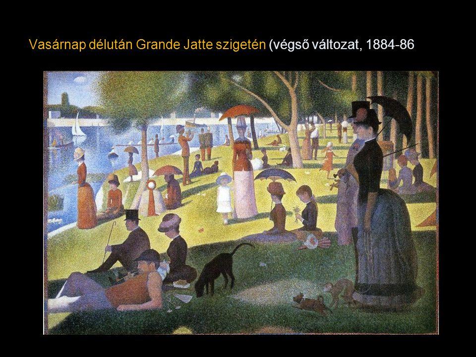 Vasárnap délután Grande Jatte szigetén (végső változat, 1884-86