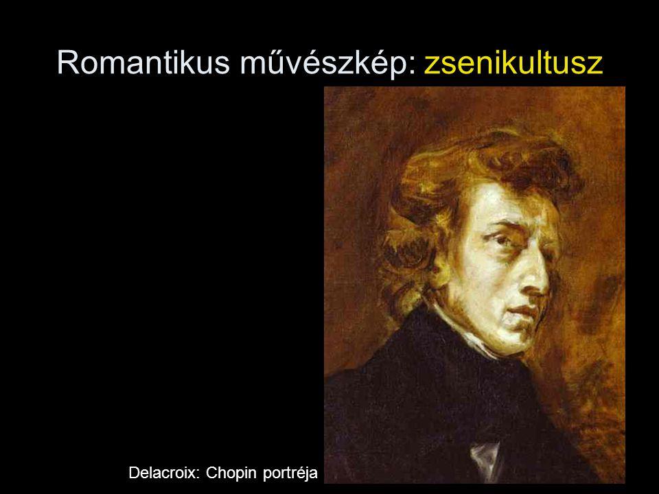 Romantikus művészkép: zsenikultusz Delacroix: Chopin portréja