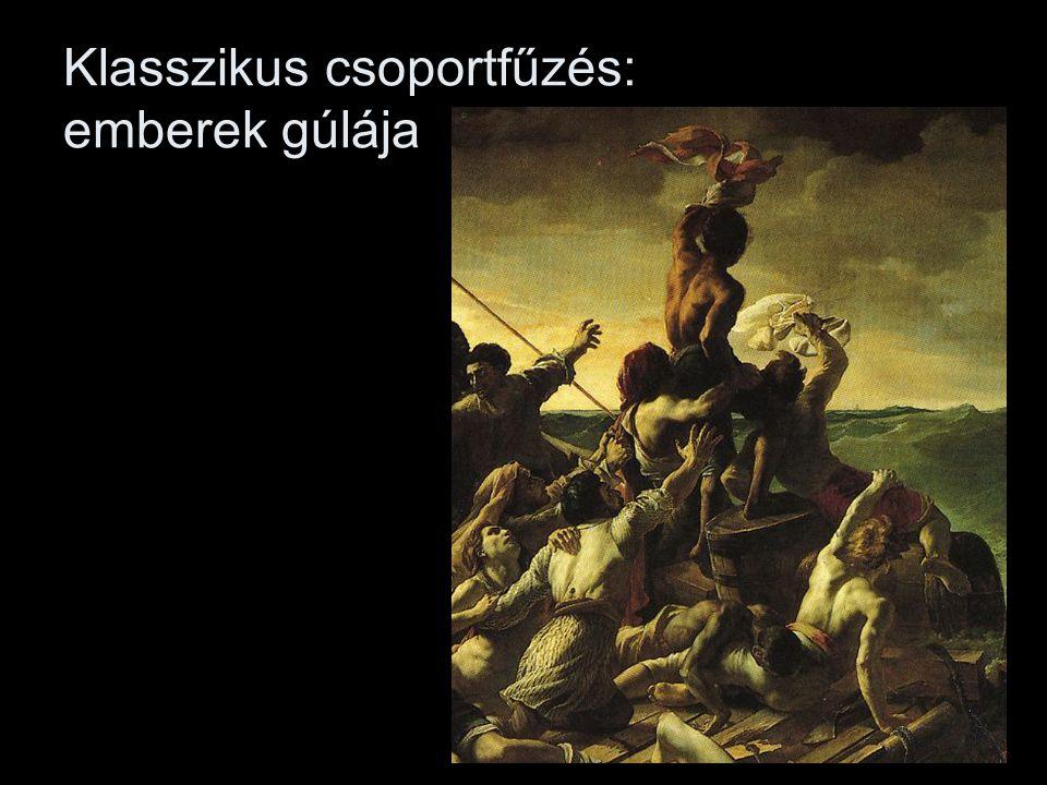 Klasszikus csoportfűzés: emberek gúlája
