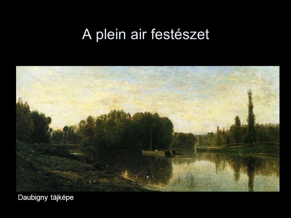 A plein air festészet Daubigny tájképe