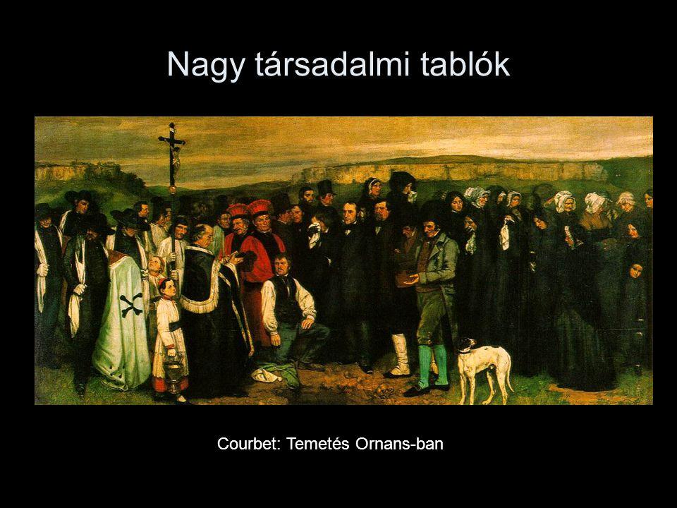 Nagy társadalmi tablók Courbet: Temetés Ornans-ban