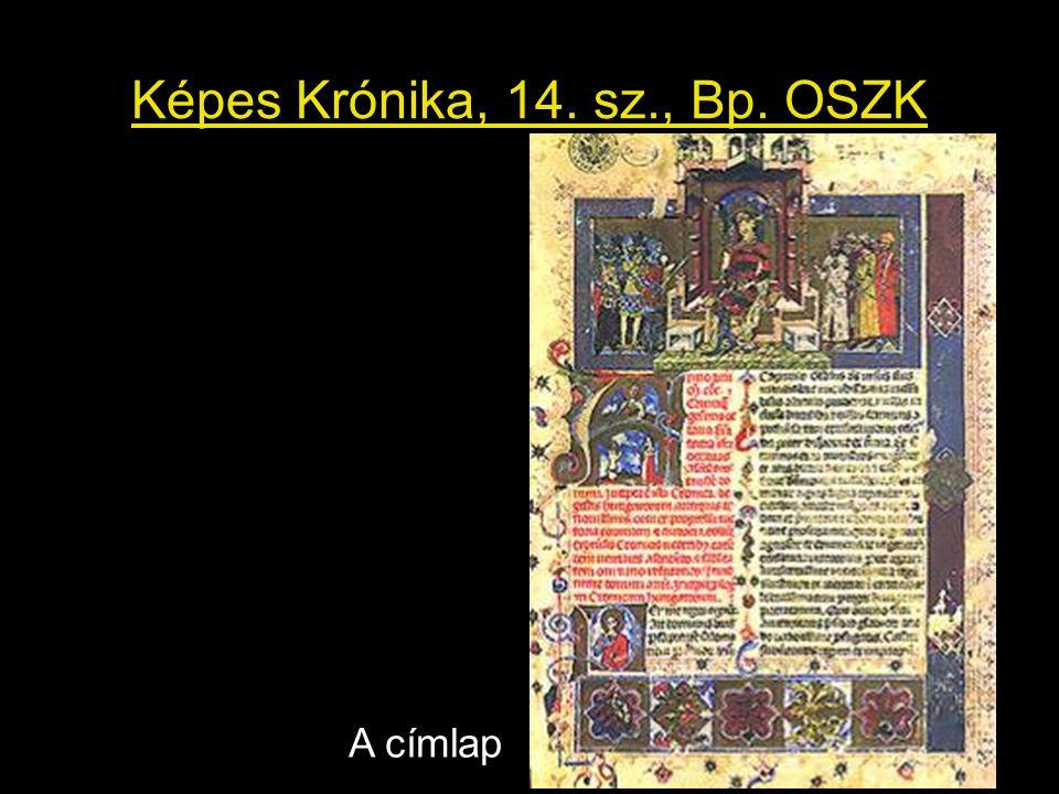 Képes Krónika, 14. sz., Bp. OSZK A címlap