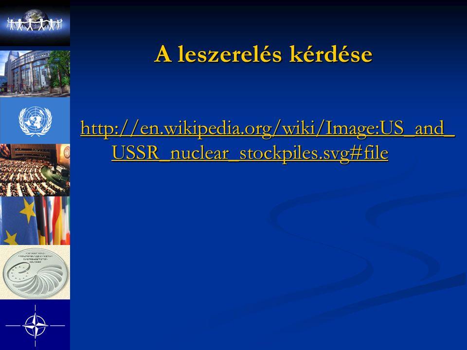 A leszerelés kérdése http://en.wikipedia.org/wiki/Image:US_and_ USSR_nuclear_stockpiles.svg#file http://en.wikipedia.org/wiki/Image:US_and_ USSR_nucle