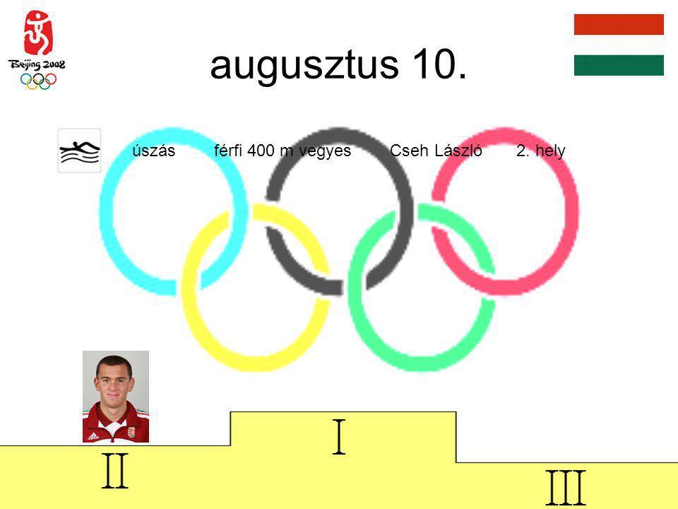 augusztus 13.úszás férfi 200 m pillangó Cseh László 2.