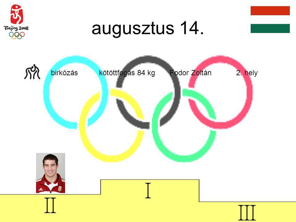 augusztus 15. úszás férfi 200 m vegyes Cseh László 2. hely