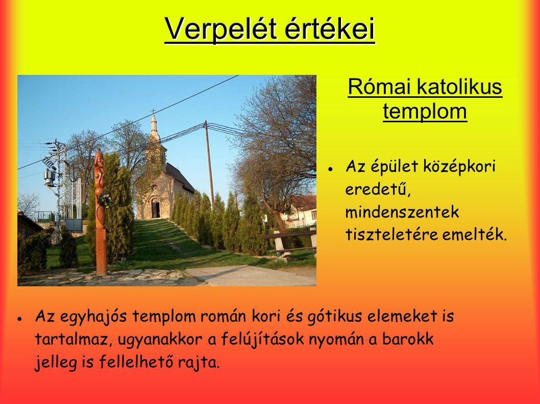 Verpelét értékei Az épület középkori eredetű, mindenszentek tiszteletére emelték. Az egyhajós templom román kori és gótikus elemeket is tartalmaz, ugy