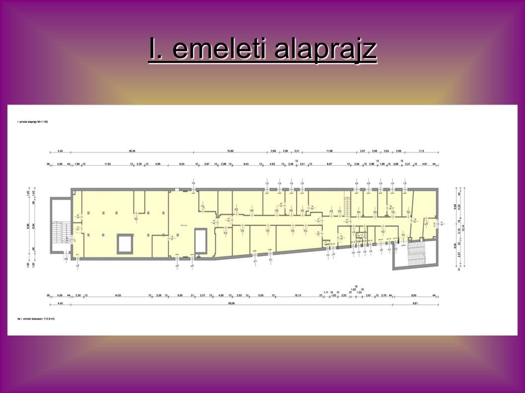 II. emeleti alaprajz