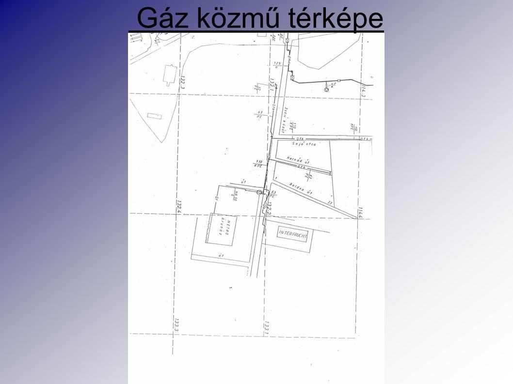 Gáz közmű térképe