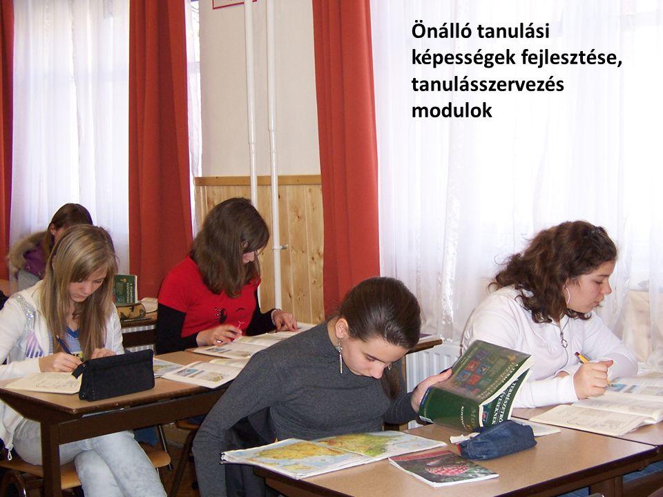 Önálló tanulási képességek fejlesztése, tanulásszervezés modulok