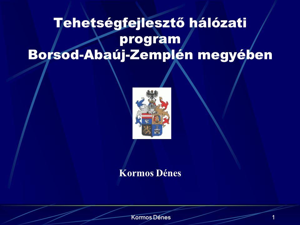 Kormos Dénes1 Tehetségfejlesztő hálózati program Borsod-Abaúj-Zemplén megyében Kormos Dénes
