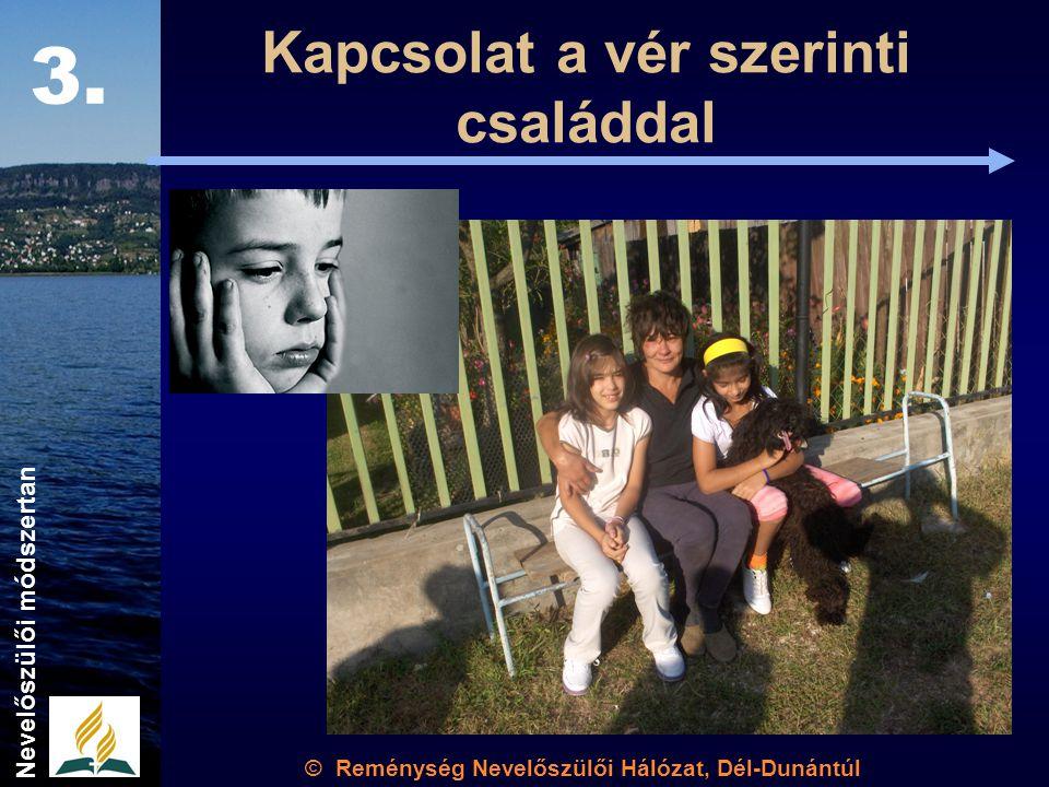 Kapcsolat a vér szerinti családdal © Reménység Nevelőszülői Hálózat, Dél-Dunántúl 3. Nevelőszülői módszertan