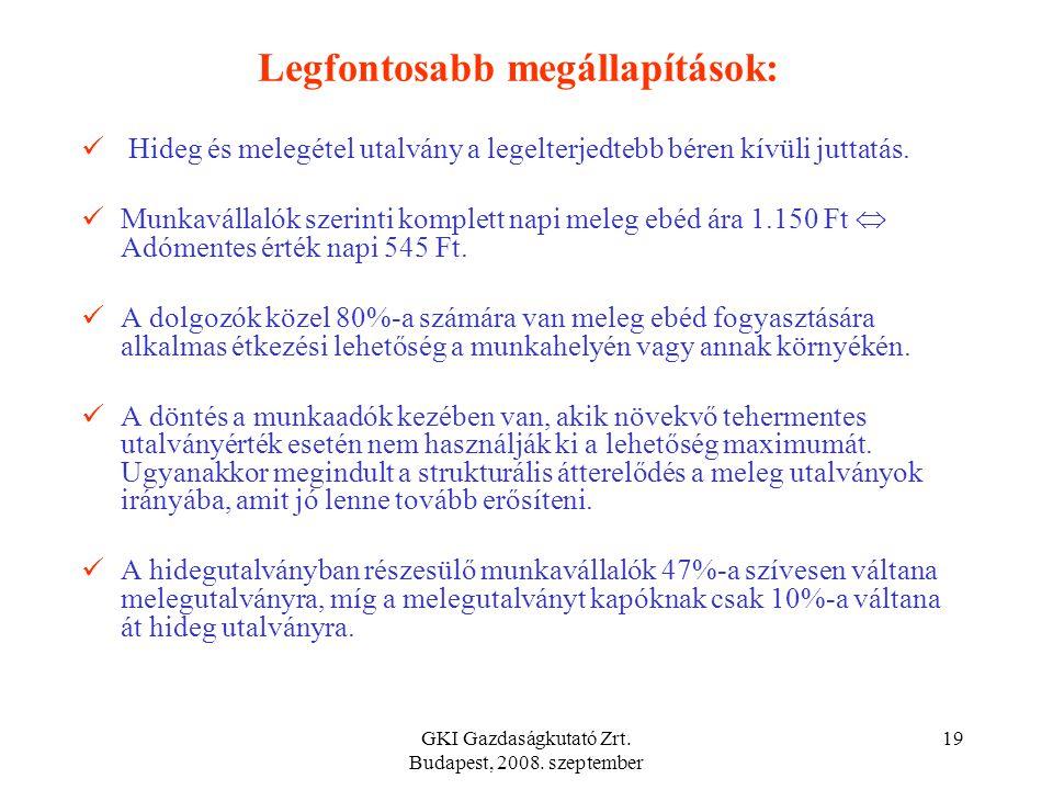 GKI Gazdaságkutató Zrt. Budapest, 2008. szeptember 18  A bér közterhek elmaradása és az ÁFA bevételek többlete kiegyenlíti egymást, a vállalati költs