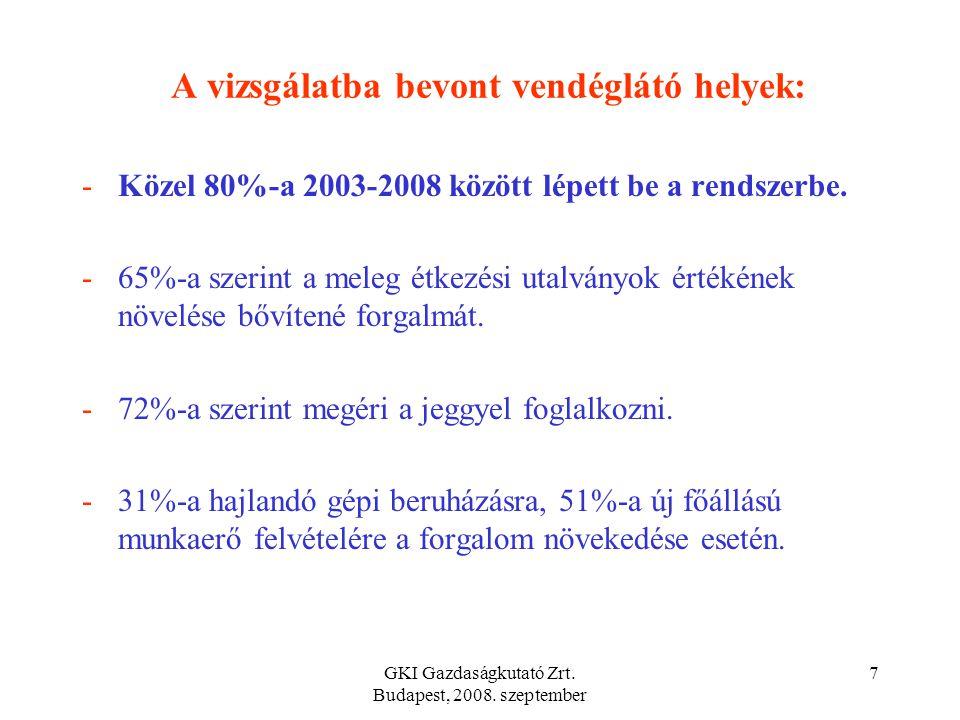 GKI Gazdaságkutató Zrt. Budapest, 2008. szeptember 6 A kétfajta utalvány közötti változtatási hajlandóság a munkavállalók körében Ha szabadon választh