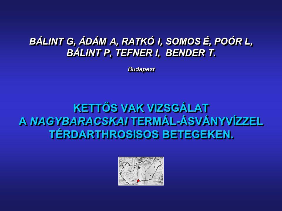 BÁLINT G, ÁDÁM A, RATKÓ I, SOMOS É, POÓR L, BÁLINT P, TEFNER I, BENDER T.