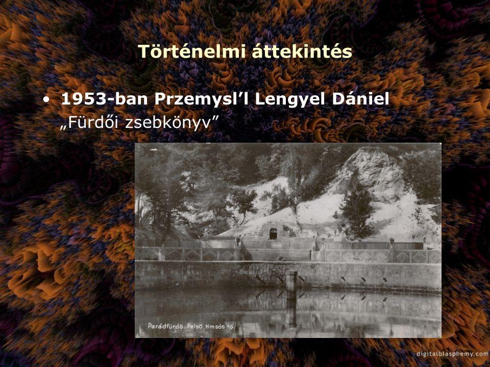 """Történelmi áttekintés 1953-ban Przemysl'l Lengyel Dániel """"Fürdői zsebkönyv"""""""