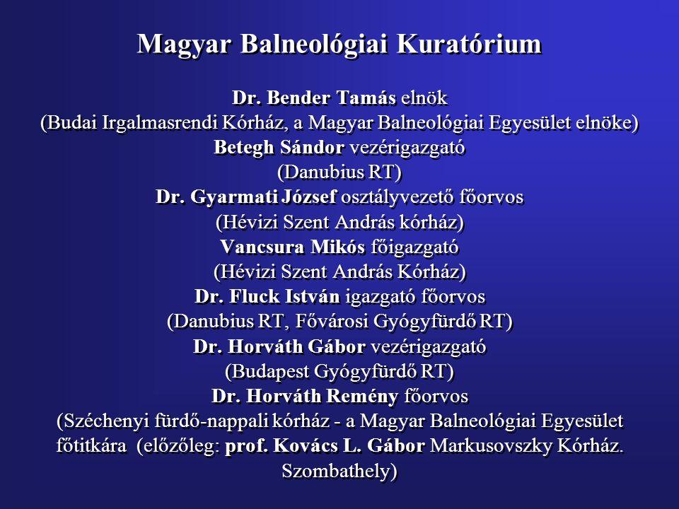 Magyar Balneológiai Kuratórium Dr.