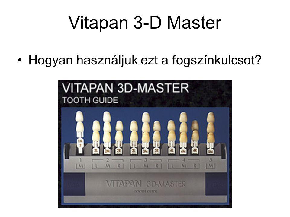 Vitapan 3-D Master Hogyan használjuk ezt a fogszínkulcsot?
