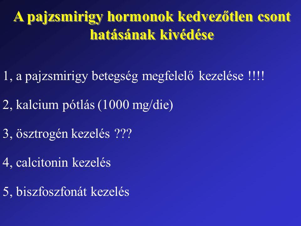 A pajzsmirigy hormonok kedvezőtlen csont hatásának kivédése A pajzsmirigy hormonok kedvezőtlen csont hatásának kivédése 1, a pajzsmirigy betegség megfelelő kezelése !!!.