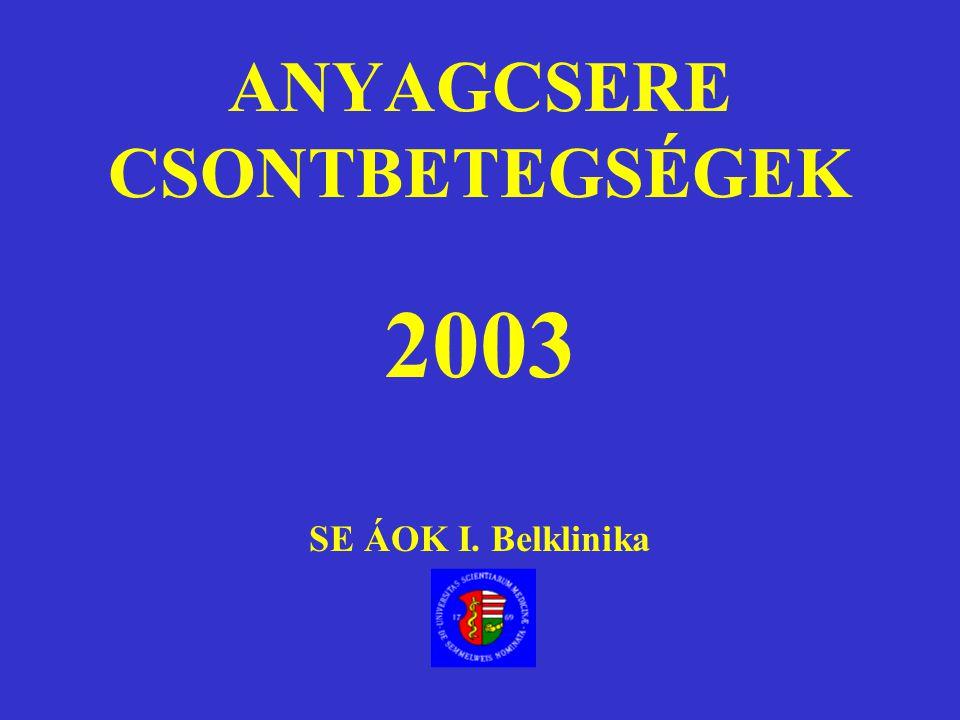 Hypercalcaemia Differenciáldiagnosztika, Kezelés Dr Nagy Zsolt SE I.sz.Belklinika