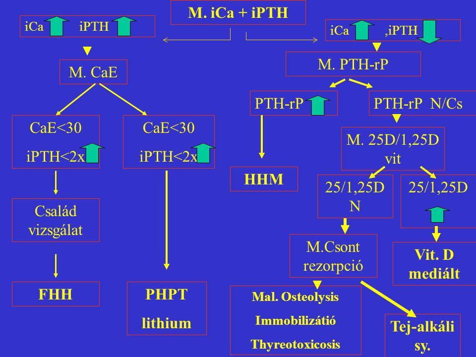 Hypercalcaemia okai 1 A.Parathyroid- függő PHPT FHH Lithium carbonat Veseelégtelenség, transzplantáció MEN B.