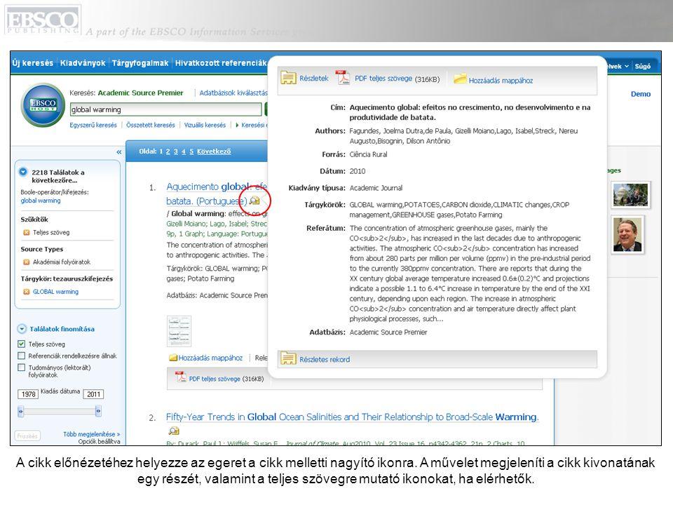 Kattintson a Hozzáadás mappához hivatkozásra a cikkek hozzáadásához a keresési folyamat mappájához.