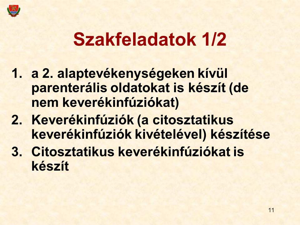 11 Szakfeladatok 1/2 1.a 2.