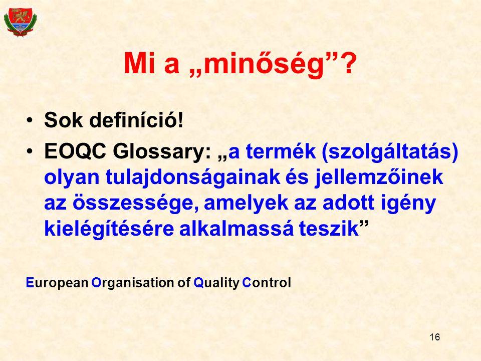 """16 Mi a """"minőség .Sok definíció."""