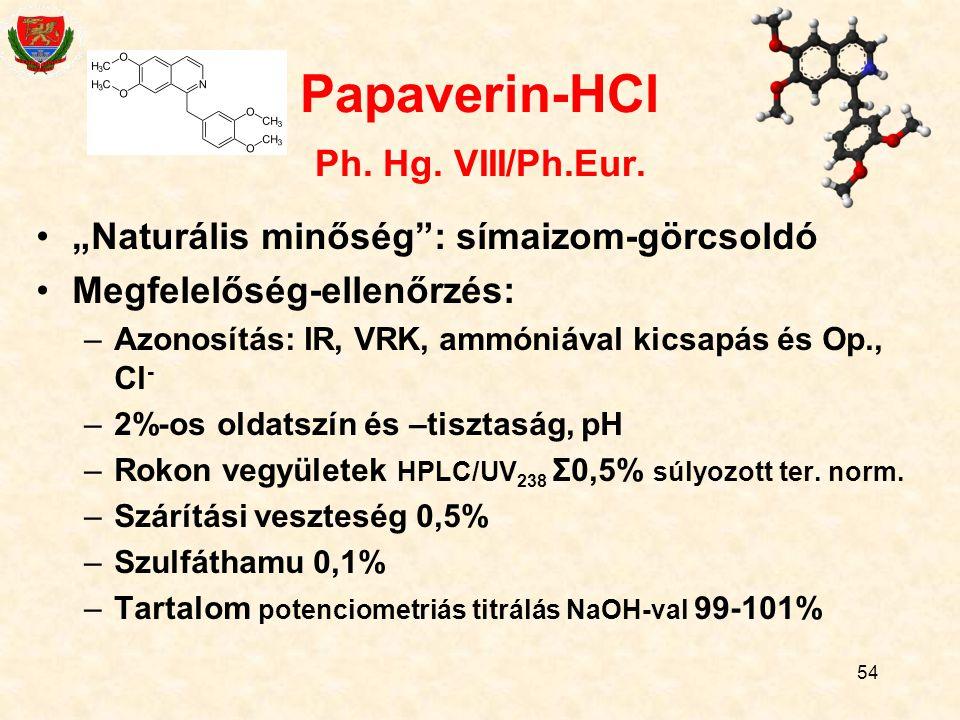 54 Papaverin-HCl Ph.Hg. VIII/Ph.Eur.