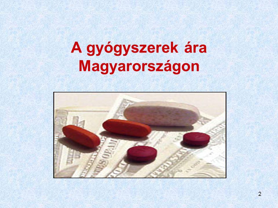 2 A gyógyszerek ára Magyarországon