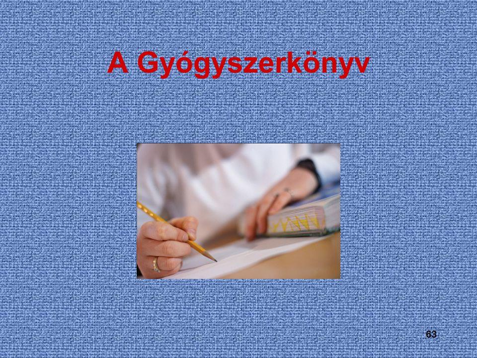 63 A Gyógyszerkönyv