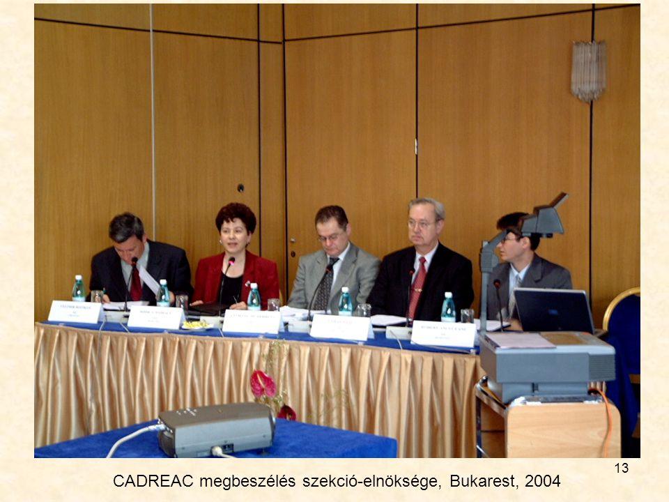 13 CADREAC megbeszélés szekció-elnöksége, Bukarest, 2004